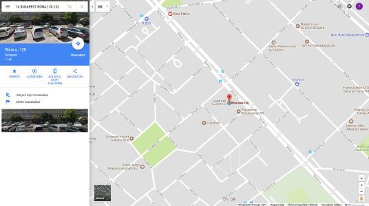 Google térképen azonnal fellelhető a cím pontos elhelyezkedése